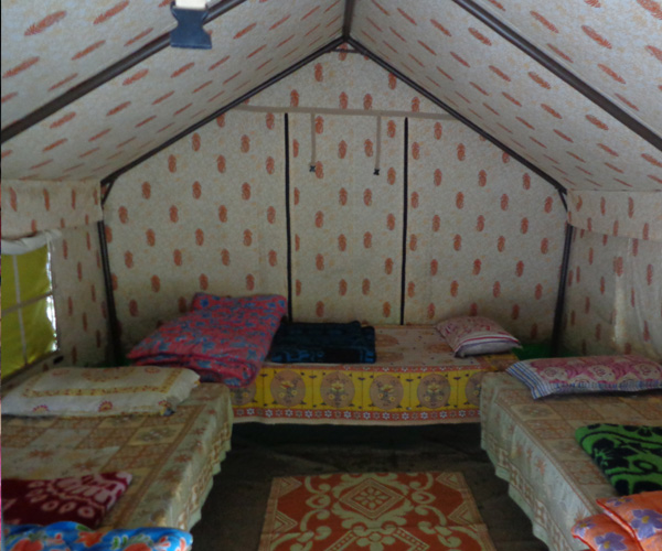 Two beds inside camps of Indiathrills