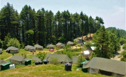 Zipline activity in Indiathrills Campsite