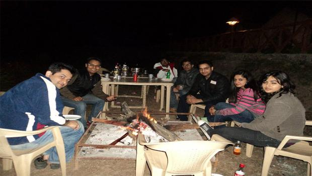 Get together of group in Campsite of Indiathrills