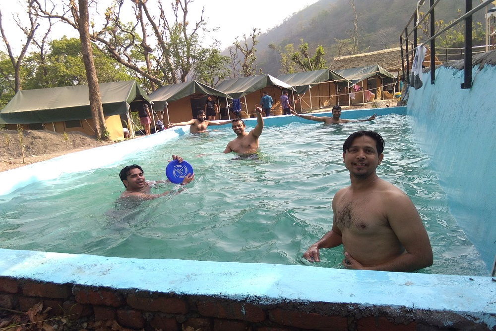 people in Swimming pool at India Thrills Camp