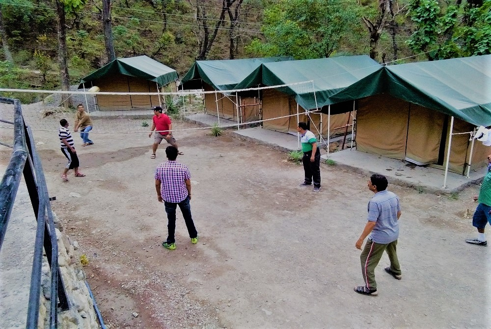 A group playing volley as a part of Activity at India thrills