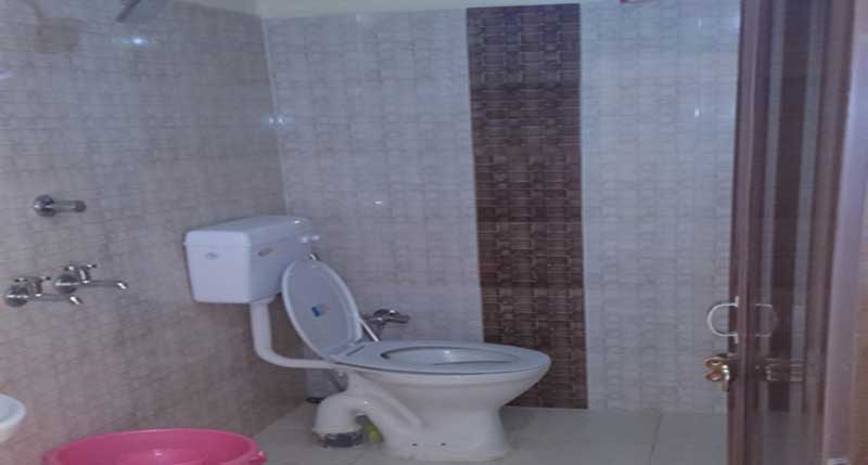 Inside view of washrooms at Ojas Camps