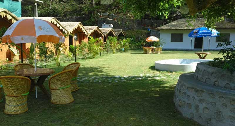Camp outside view in Ojas Resort