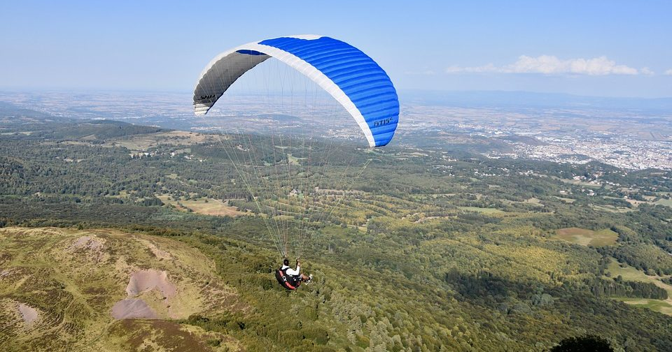 Dehradun valley view paragliding