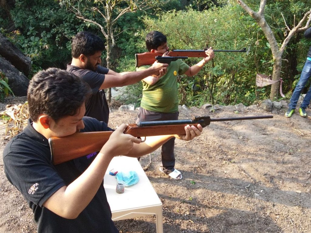 Shooting Activity at Aqua Splash Camps