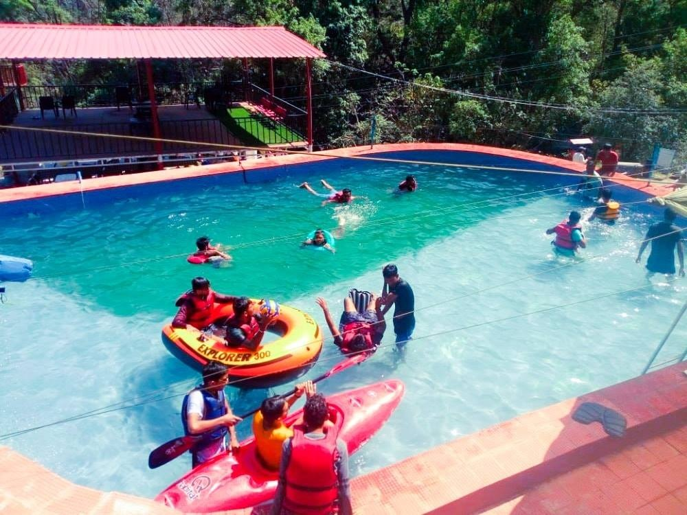 Swimming Pool in Aqua Splash Camps