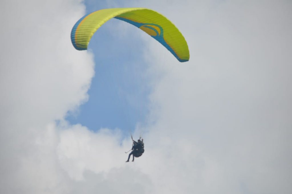 Paragliding at Dhobi