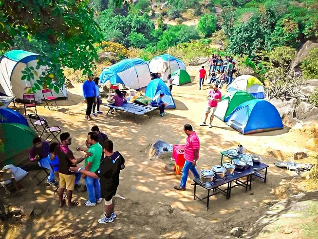 Camping in Mount Abu mountains