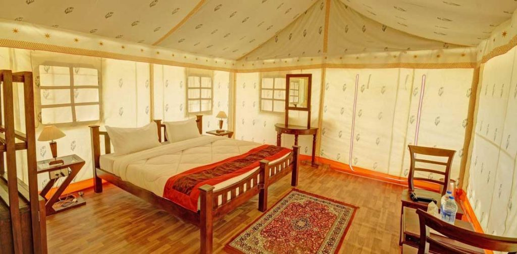Sky desert safari camp inside view