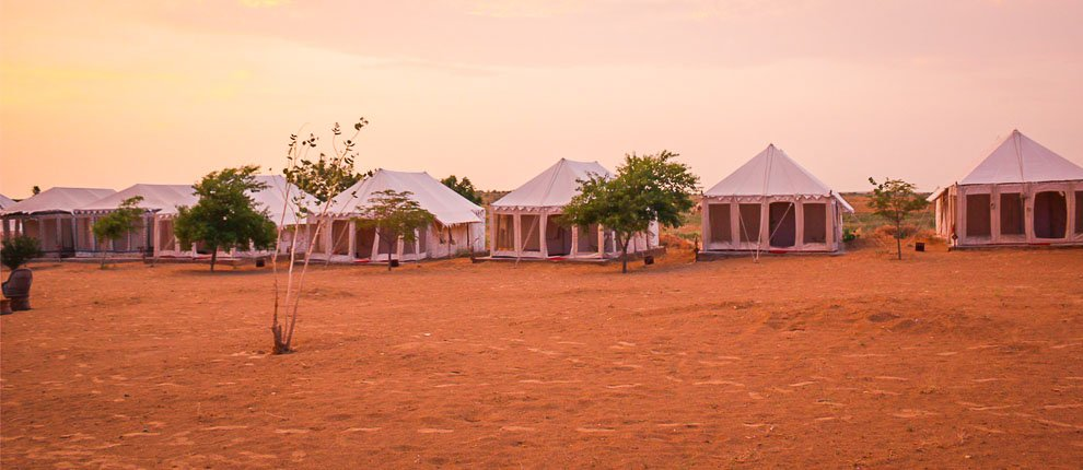 Camping in Prince desert camp at jaisalmer