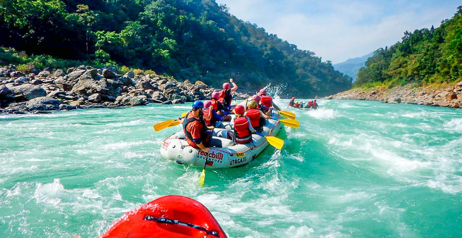 Combo of Rafting and rishikesh camping package