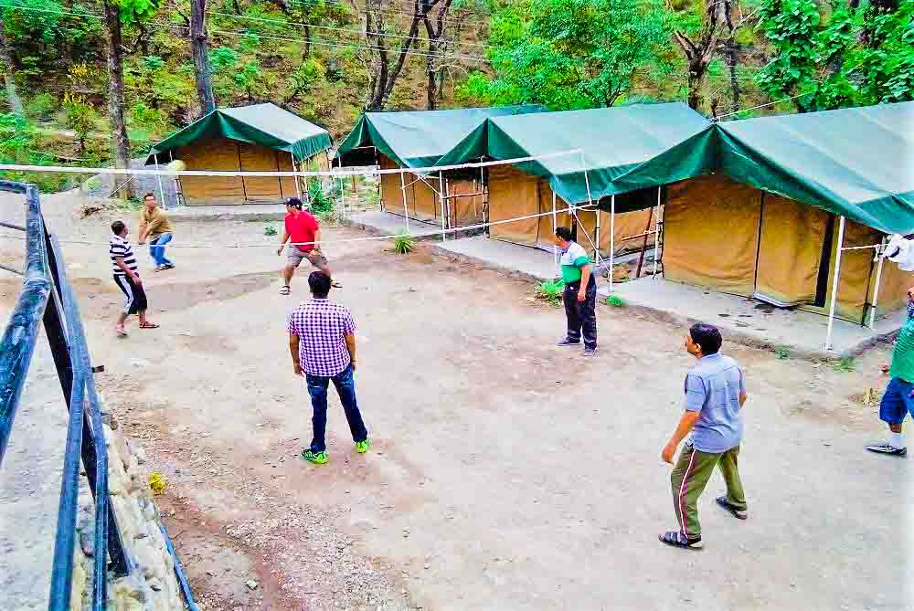 Activity in camps at rishikesh