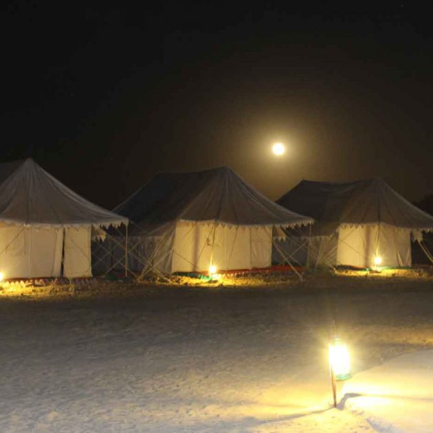 sunrise desert adventure camp night view