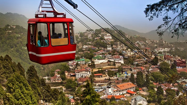 cable car in gun hill at mussoorie