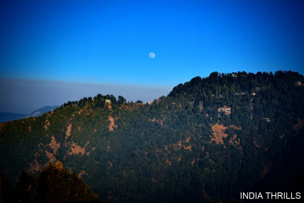 Mussoorie scenic view from Lal Tibba