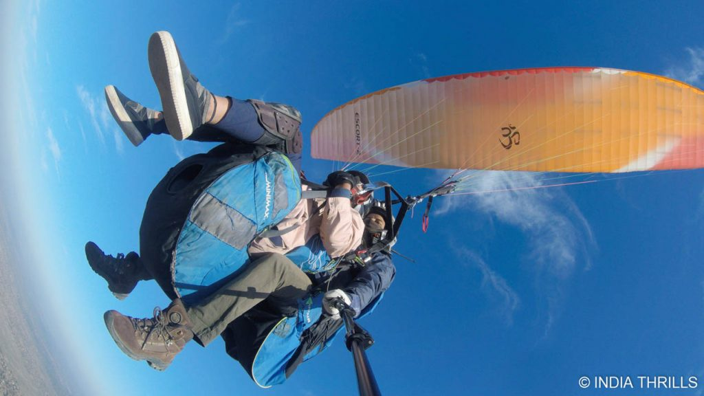 cross country flying during paragliding in Rajasthan