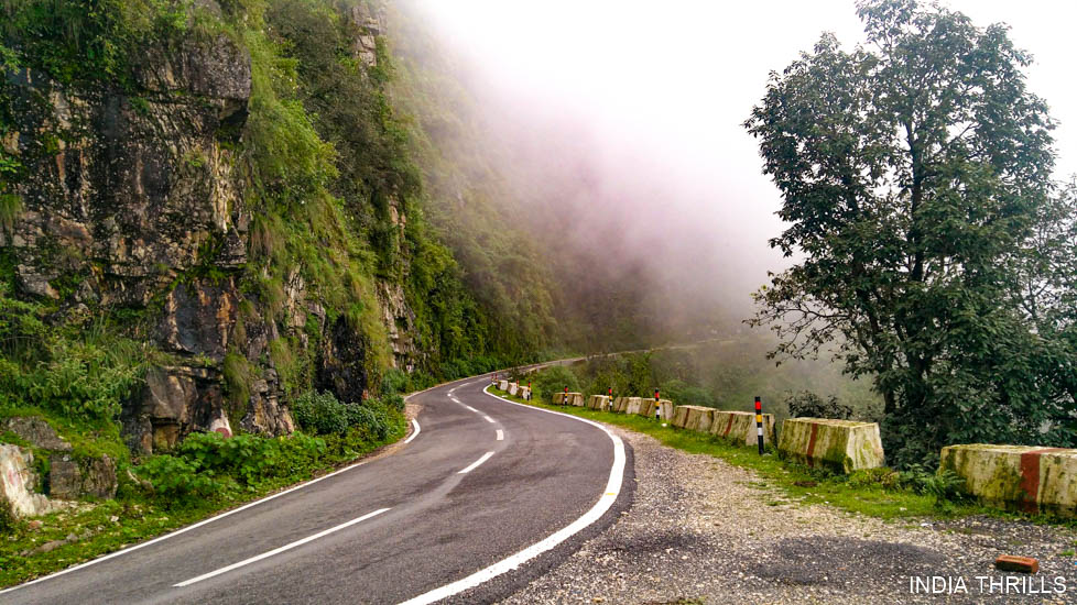 Mussoorie road at Rishikesh Mussoorie Haridwar 3 nights trip