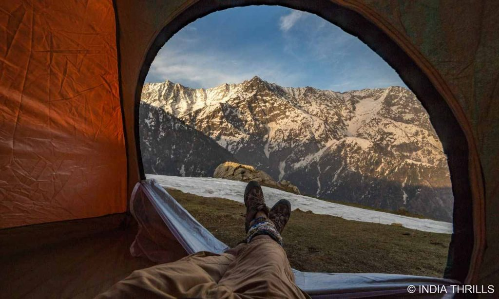 Triund hills view from tents