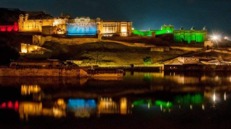 Light Show in Amer Fort